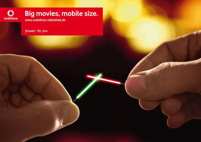 Publicidad de Star Wars en Vodafone